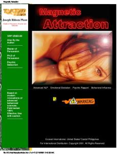 (Ebook - Nlp - Sex) Magnetic Attraction (Joseph R Plazo) - Unencrypted