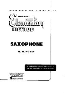 Elementary Sax Book