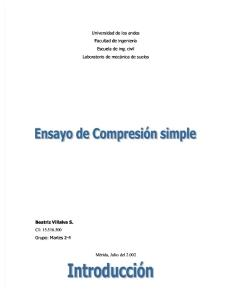 Ensayo de Compresion Simple