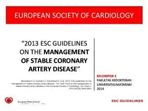 ESC Guidelines on the Management of SCAD