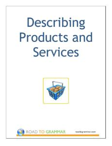 ESL Vocabulary Worksheet: Describing Products and Services