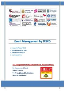 Event Management by TESCO