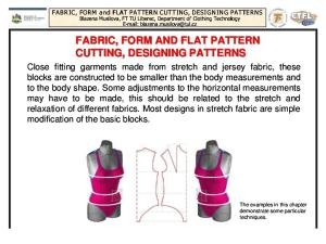 Fabric_Form and Flat Pattern Cutting_ Designing Patterns