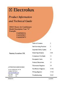 FAS184N2A2 Specifications and Service Manual