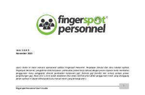 Fingerspot Personnel User's Guide