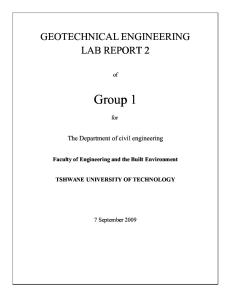 Geotechnical Engineering Lab Report 2