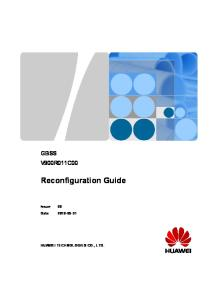 Good Document_GBSS Reconfiguration Guide(V900R011C00_06)