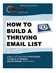 How to Build a Thriving Email List Final