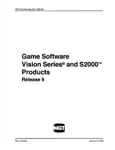 IGT S2000 Software Manual