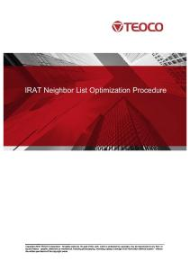 IRAT NL Optimization - Procedure