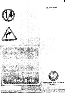IRC-67 Code of Practice for Road Signs