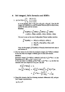 Ito Integral, Ito's Formula and SDEs