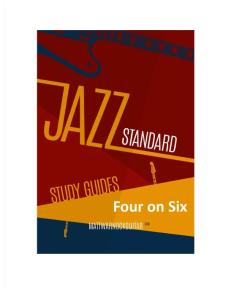 Jazz Standard Study Guide - Four on Six