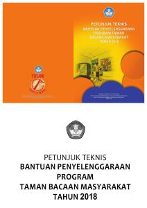 Juknis Bantuan Penyelenggaraan Program TBM Th 2018