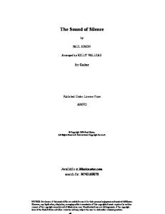 Kelly Valleau _The Sound of Silence_ Guitar Tab in E Minor - Download & Print - SKU_ MN0169075