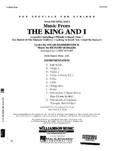 King and I - Score