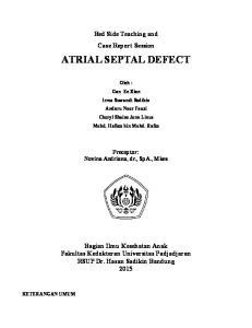 laporan kasus Atrial Septal Defect