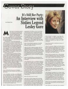 Lesley Gore interview