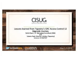 Lessons Learned SAP GRC