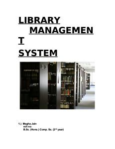 Library Management System Final