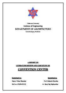 Literature Review and Case Study on Convention Center