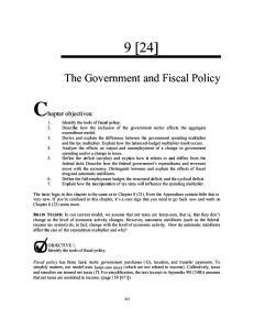 macsg09: the government and fiscal policy