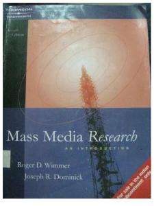 Mass Media Research Dominic