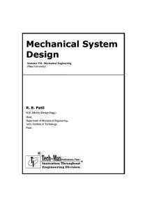 Mechanical System Design by R. B. Patil (PREVIEW)