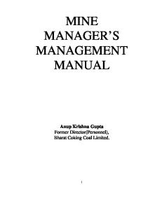 Mine Managers Manual