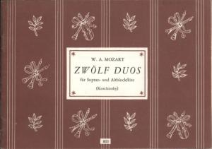 Mozart_W.a. - 12 Duos for Soprano & Alto Recorder - Flutes Part