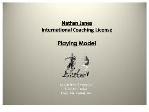 nathan janes  playing model ppt update