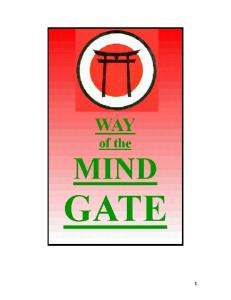 Ninjutsu - Way of the Mind-Gate