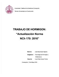 norma nch 170 : 2016