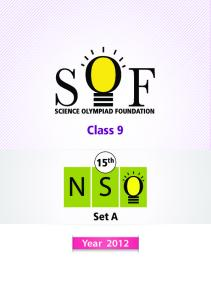 NSO LEVEL-1 Booklet For Class-IX