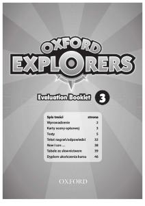 Oxford Explorers 3 Tests Evaluation Booklet