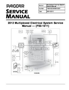 Paccar 2010 Multiplexed Electrical System Sevice Manual-(P30-1011)