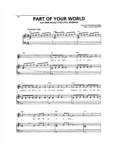 Part of Your World Sheet Music