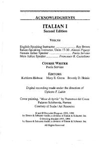 Pimsleur - Italian I -(Booklet) - PDF Free Download
