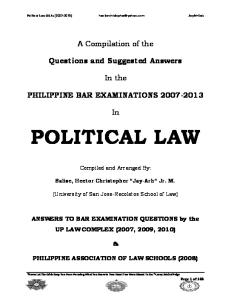 Political-Law-Philippine-Bar-Examination-Questions-and-Suggested-Answers