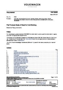 Pregunta 2. VW 50065 -2013-07-(Flat Products Steel-For Cold Working-CR HR-Coats)