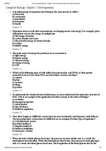Print Campbell Biology_ Chapter 1 Test  question bank