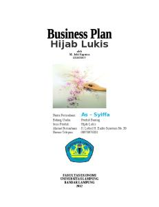 Proposal Business Plan Hijab Lukis