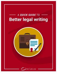Quick Guide to Better Legal Writing