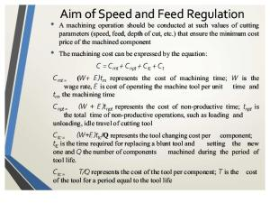 Regulation of Speed and Feed Rates