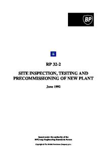 Rp32-2 Site Inspection, Testing And