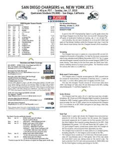 San Diego Chargers vs. New York Jets