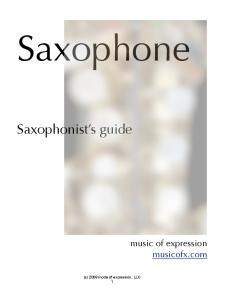 Saxophone User's Guide