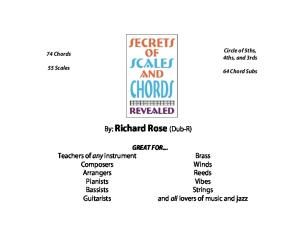 Secrets of Scales and Chords Revealed