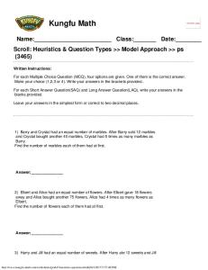Singapore Math Worksheets Grade 5 Heuristics Questions www