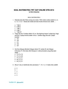 Soal Matematika Try Out Online STIS 2014
